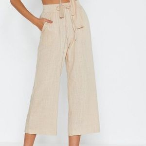 Linen Wide-Leg Pants - New/Unworn
